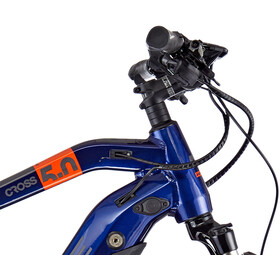 HAIBIKE SDURO Cross 5.0 Hombre, blue/orange/titan